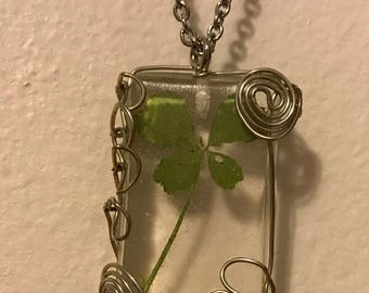 Wire Wrapped Four Leaf Clover