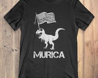 Dinosaur T-Shirt Gift: Murica