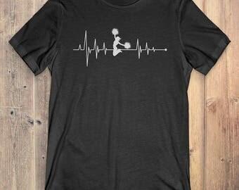 Cheerleading T-Shirt Gift: Heartbeat Cheerleading