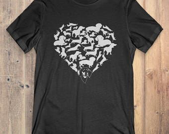 Dachshund T-Shirt Gift: Heart Dachshund