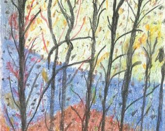 Print of Color Pencil & Charcoal Sketch No 3