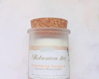 Tangerine Vanilla Coconut Wax Candle| 6 oz