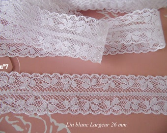 Pillows linen VINTAGE Old linen white Valenciennes lace 2 m 60
