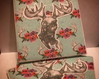 Deer Skull Coasters