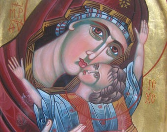 Mother of God and Jesus Christ,Orthodox Byzantine icon