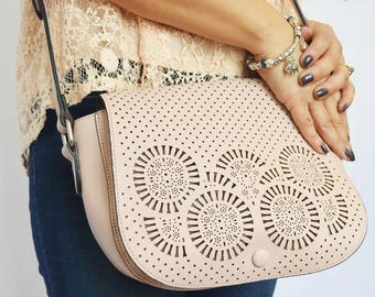 Lorena Laser Cut Handbag