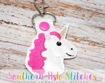 Unicorn SnapTab Embroidery Digital Download