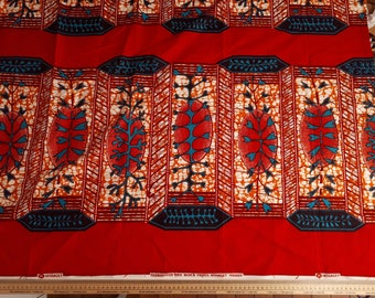 coupon Wax red traditional patterns upside down