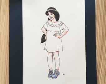 Jasmine - Drawing Reproduction - free shipping