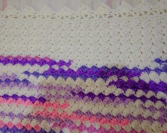 Ready To Ship, Crochet Clusters Baby/ Toddler Blanket