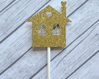 Housewarming Cupcake Toppers, House Warming Cupcake Toppers, Housewarming Party, Home Sweet Home Party, New Home, Home Warming Party