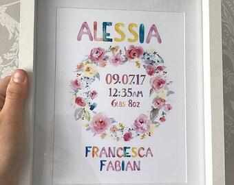Little girls newborn frame