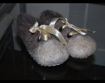Ballet - felted slippers, UK size 6