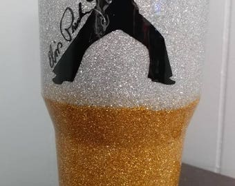 Elvis Glitter Tumbler