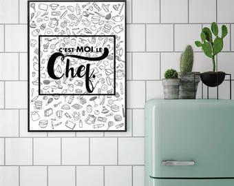 "Kitchen poster - ""I head."" / / MOO'NJOY / / A4 / A3 / A2"