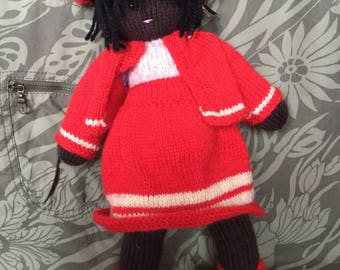 Hand knitted doll Milly