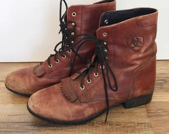 Ariat kilt, roper boots. Womens 8.5