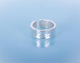 Hammered Open Sterling Silver Ring