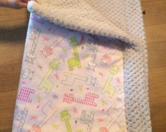 Baby blanket grey minky
