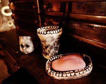 Horror Fan Gothic Human Tongue Soap!