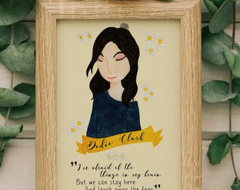 "Dodie Clark doddleoddle ""Intertwined"" Song Lyrics Print, Song Lyrics Print, Song Lyrics Printable, Music Lover Gift, Song Lyrics Wall Art"