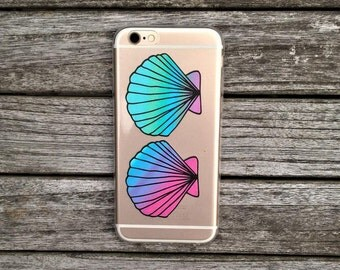 Transparent Soft TPU Gel Tropical Shell Design Phone Case For Iphone 6, 6s and 7