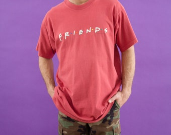Friends TV Show Shirt, Vintage, 1995, 90s Clothing, Embroidered, 90s Tshirt, Central Perk, Phoebe, Friends Show, TV Show, Television, 90s