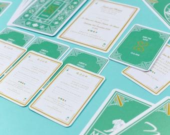 Deco Vegas Mint Green RSVP