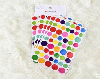 Set of 6 sheets round stickers. Stickers planner