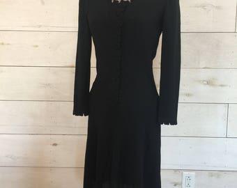 Unique 1940's Little Black Dress