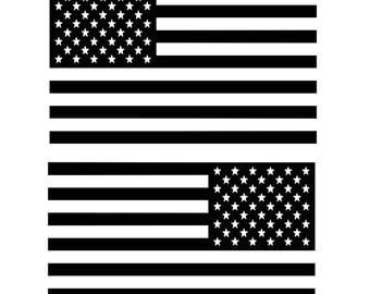 American Flag Decals  (2 pack)