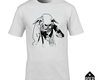 Goat, T-shirt, white, size S, M, L, XL