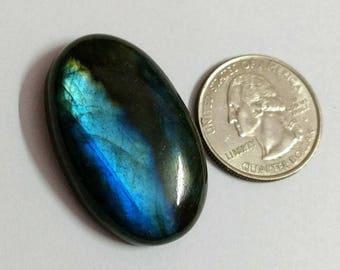 38.66x24.12 mm,Ovel Shape,Labradorite Cobochon/Blue Flash /wire wrap stone/Super Shiny/Pendant Cabochon/Semi Precious Gemstone/silverJewl