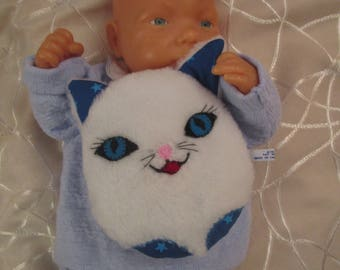 White, soft and very soft, fun and funny toy