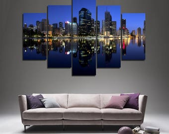Brisbane Brisbane Poster Brisbane Photo Brisbane Wall Art Brisbane Print Brisbane skyline Brisbane Photo Brisbane Art Brisbane Canvas