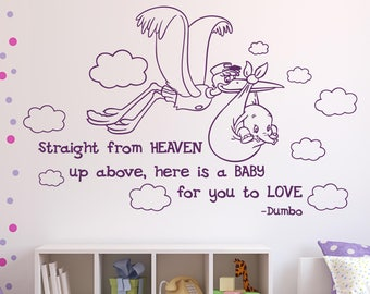 Dumbo Quotes Inspiration Dumbo Wall Decal  Etsy