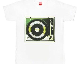 Dual gramophone lemon tshirt vintage classic hi-fi audio vinyl analogue