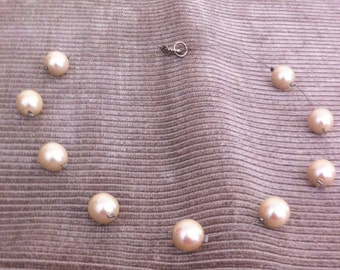 Vintage Floating Faux Pearl Necklace