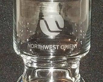 Northwest Orient Airlines Juice Shot Drinking Glass