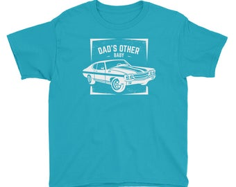 Dad's Other Baby - Classic Car Lover's Car Enthusiast Muscle Car Lover's Kids/Youth Short Sleeve T-Shirt