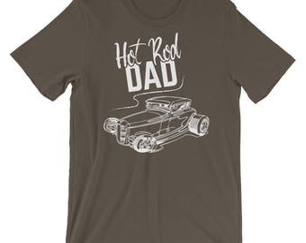 Hot Rod Dad - Classic Car Lover's Hot Rod Enthusiast Muscle Car Lover's Short-Sleeve Unisex T-Shirt