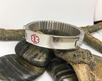 Stainless Steel Medical Bracelet Stretch