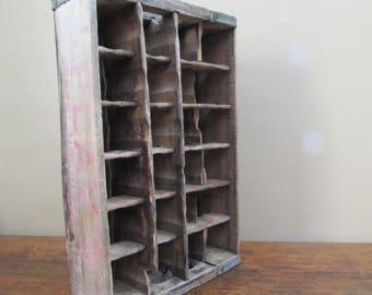 Wooden Crate - Antique Wood Crate - Old Beverage Crate -  Vintage Flay's Sparkling Beverage Crate