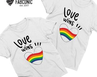 Love wins shirts, Love wins matching shirts, Gay pride shirts, LGBT Couples shirts, Love wins t-shirts, Pride shirts
