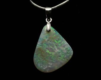 Australian Mintabie Opal Pendant 005O