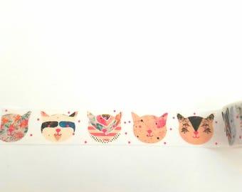 Boho Cats Washi Tape, scrapbooking, stationary, wedding