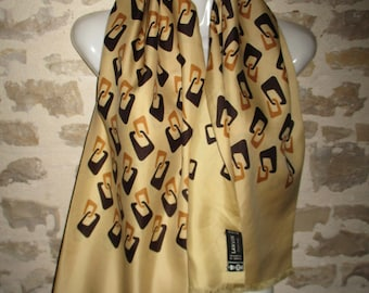 Scarf LANVIN vintage Haute Couture silk lined, in very good condition, 33 x 130 cm with its label