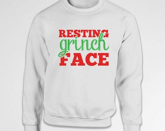 Funny Holiday Hoodie Grinch Sweater Christmas Jumper Xmas Gift Ideas Holiday Clothing Christmas Humor Xmas Pullover Merry Christmas TEP-586