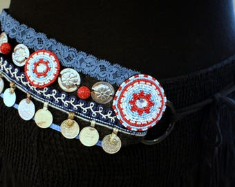 Tribal Fusion Bellydance Belt with Coins