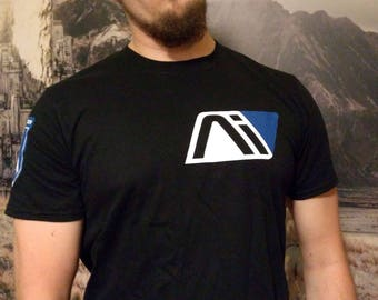 Men's T-shirt Mass Effect Andromeda! Front and sleeves overprint!